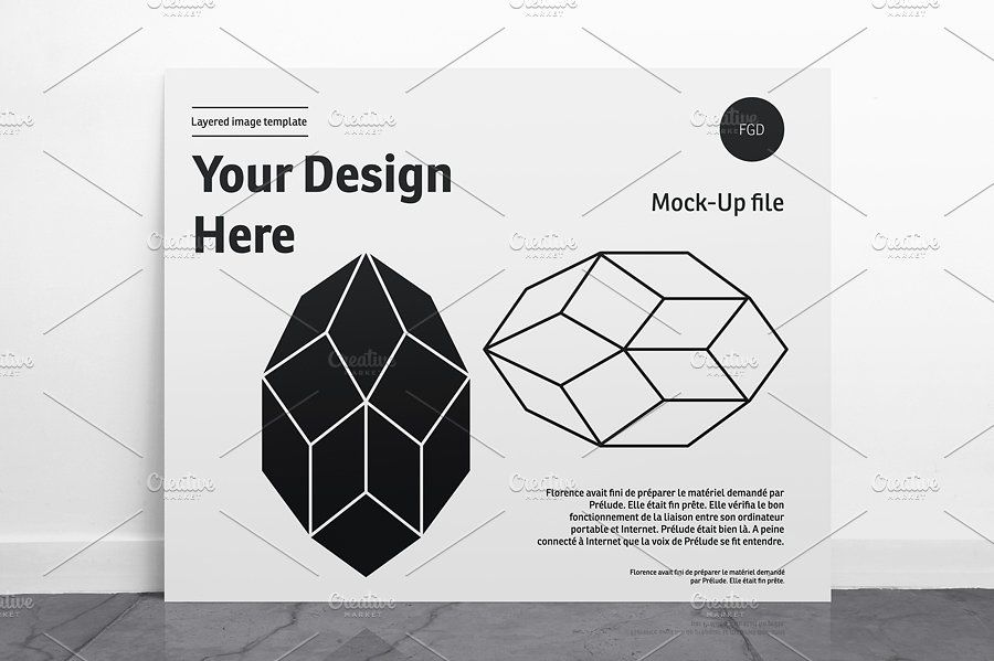 Poster Mockup Landscape 01 Features Psd Mock Automatically