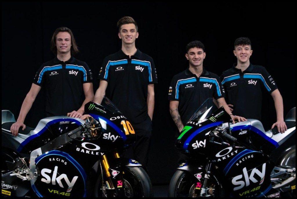 Livery Sky Vr46 Racing Team Moto2 Dan Moto3 2019 Valentino Rossi Motogp Pembalap