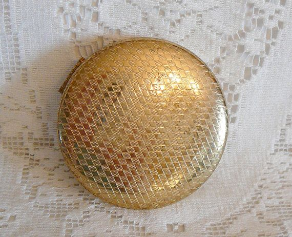 1950s Vintage Volupte Cake Powder Compact Mirror by EvelynnsAlcove