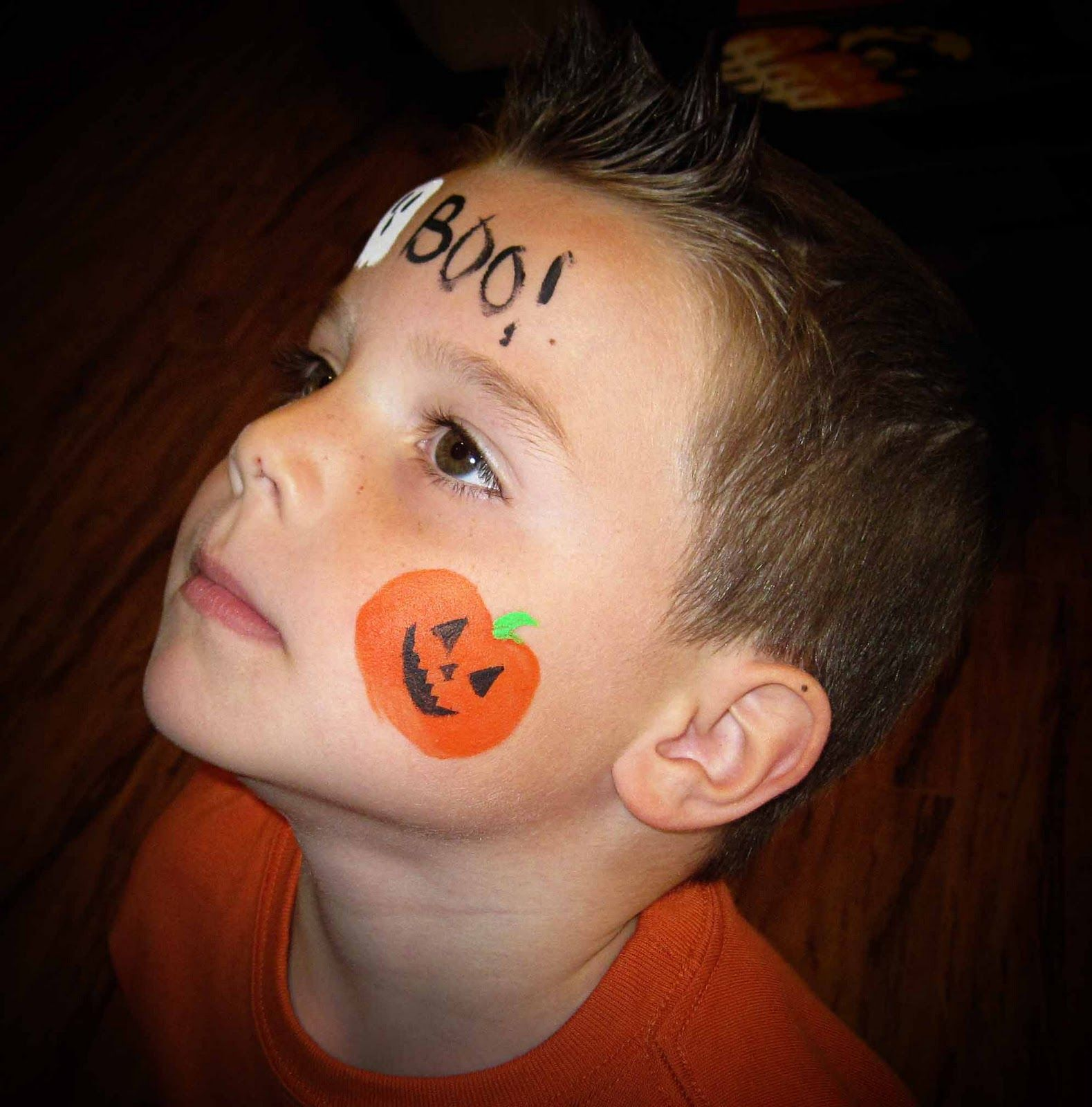 Easy Halloween Cheek Painting