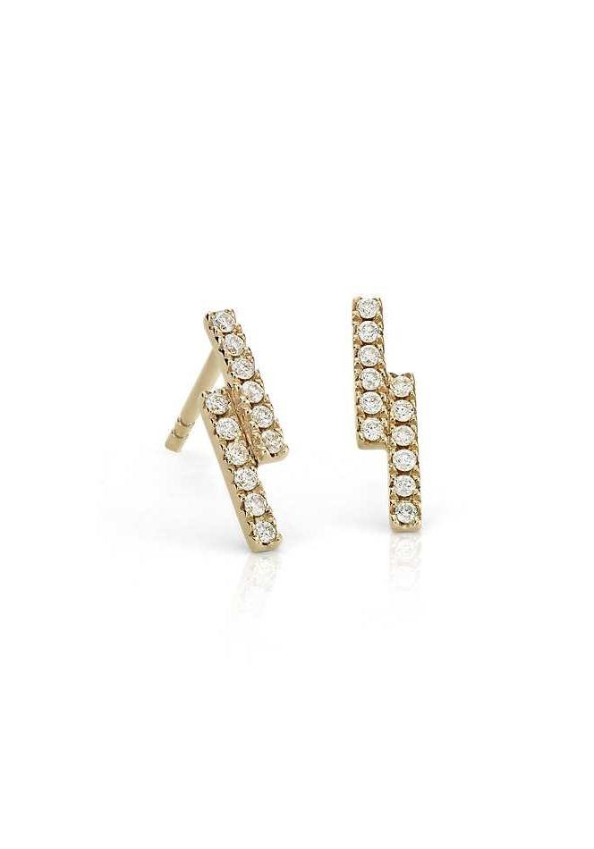 Blue Nile Mini Diamond Cross Stud Earrings 14k White Gold (1/12 ct. tw.) aPq5T