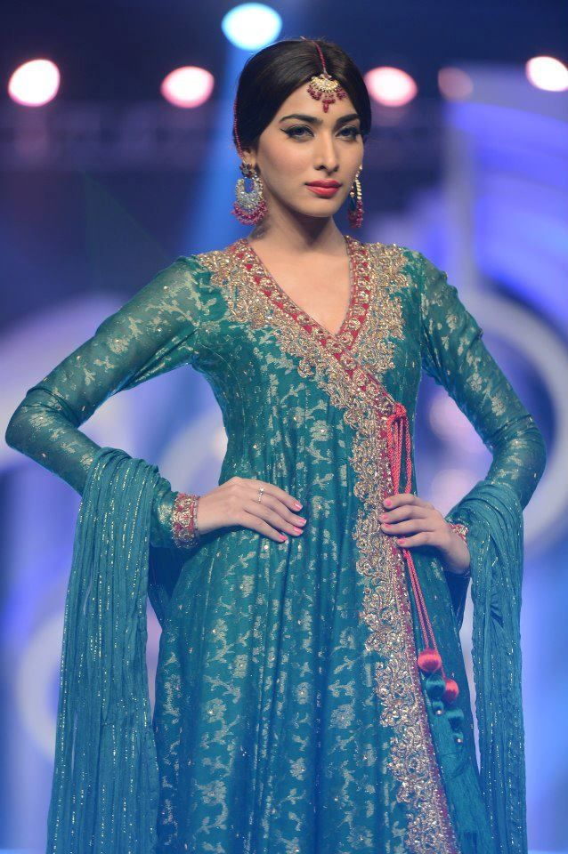 Bridal wear Fancy Angrkha Style Dresses | Clothes | Pinterest ...