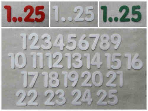 FELT-NUMBERS-1-25-Advent-Calendar-1-5-3cm-Tall-Die-cuts-Christmas-Stockings-Age