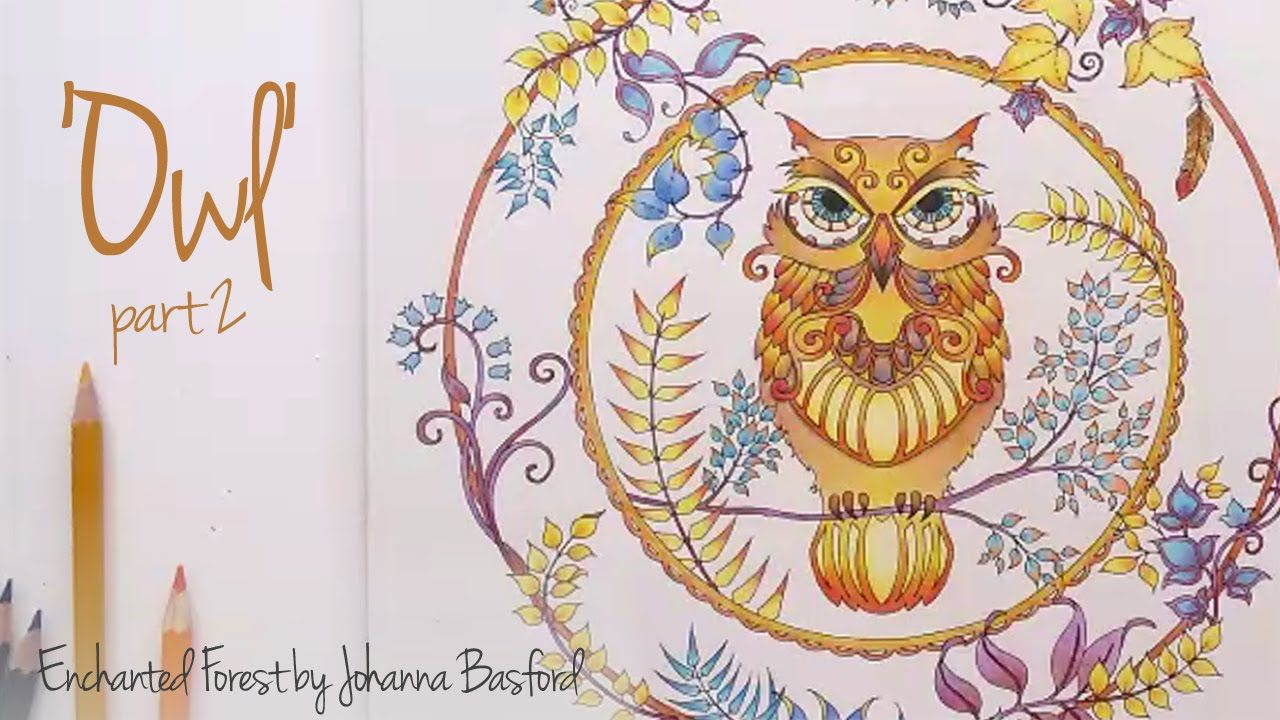 enchanted forest coloring pages owl - photo#22
