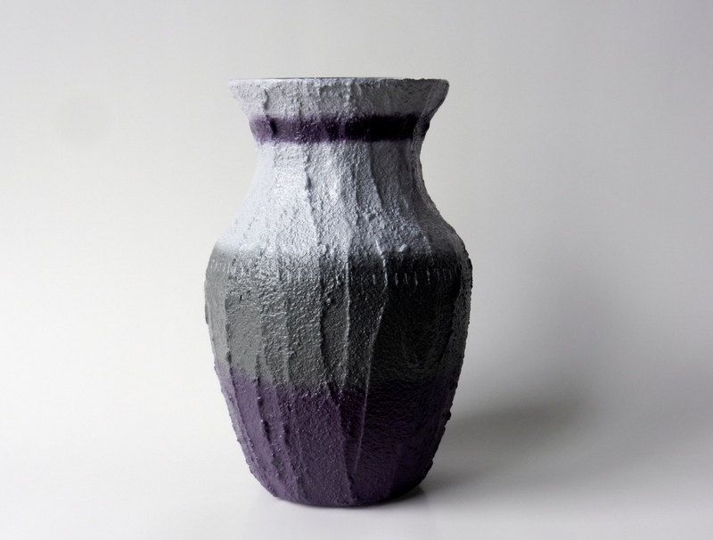 Items Similar To Vase Purple And Gray Plum Home Decor Made Order Garden On Etsy