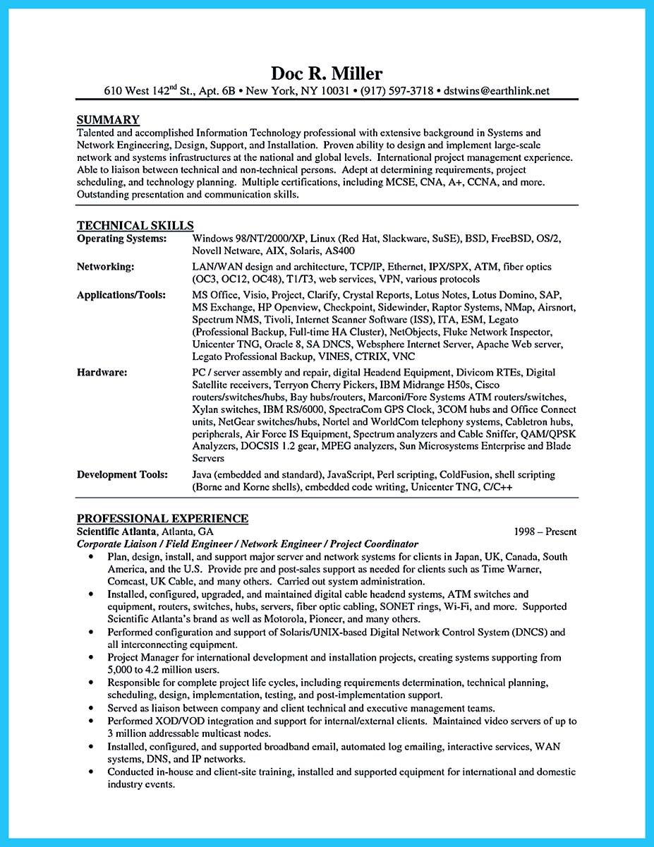 nice How to Make Cable Technician Resume That Is Really Perfect ...