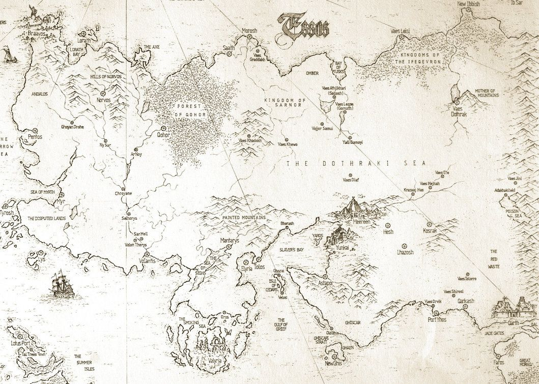 Asoiaf Speculative World Map Essos Full By Lucas Reiner Game Of