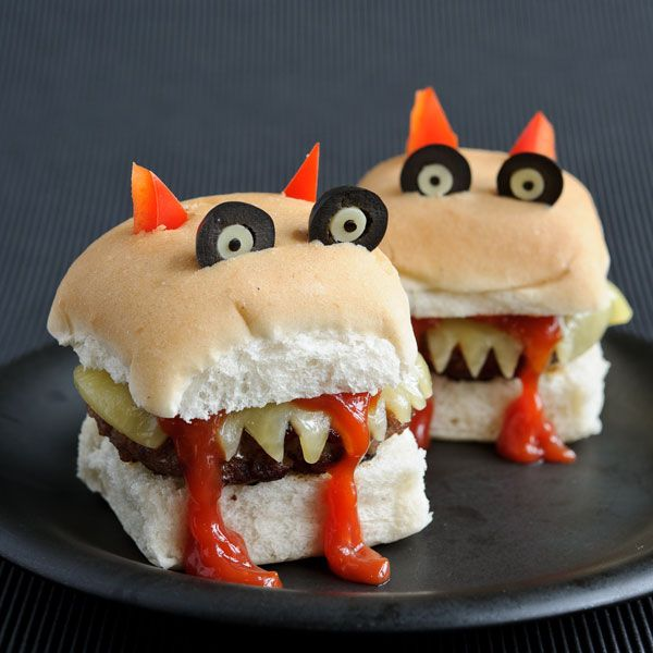 Monster burger father who created cartoon themed 39 funky for Halloween food ideas for preschoolers