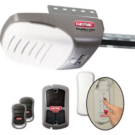 Genie 37281v Garage Door Opener With 3 4 Hpc Dc Chain Garage Doors Genie Garage Door Garage Door Opener