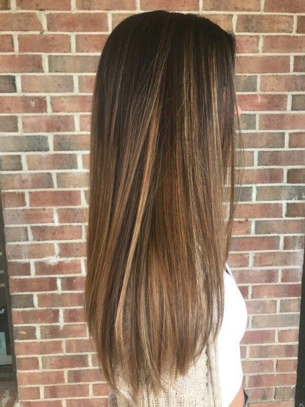 Caramel Balayage Balayage Straight Hair Brown Straight Hair Straight Hairstyles