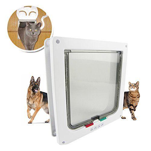 Top Pet Door 4 Way Locking Cat Door Flap Durable Safe 925 X 985