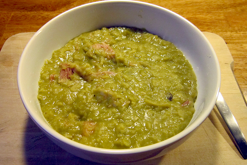 My recipe for split pea and smoked ham hough (hock) soup. Plus a suggestion for an intriguing vegetarian alternative.