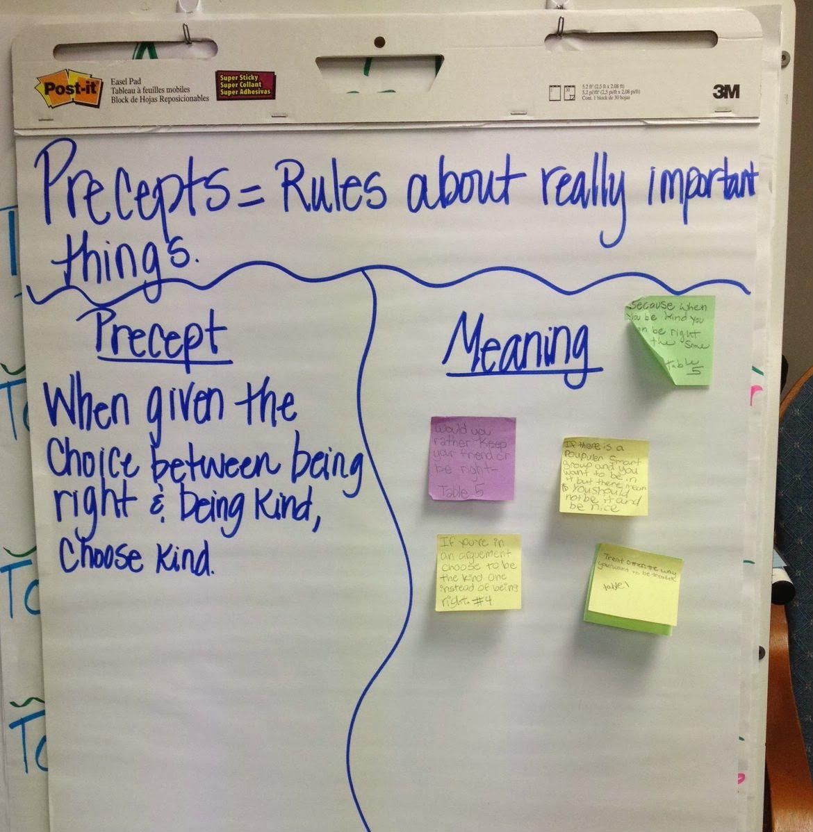 Choose Kind Choose Kind Wonder Precepts Wonder Activities