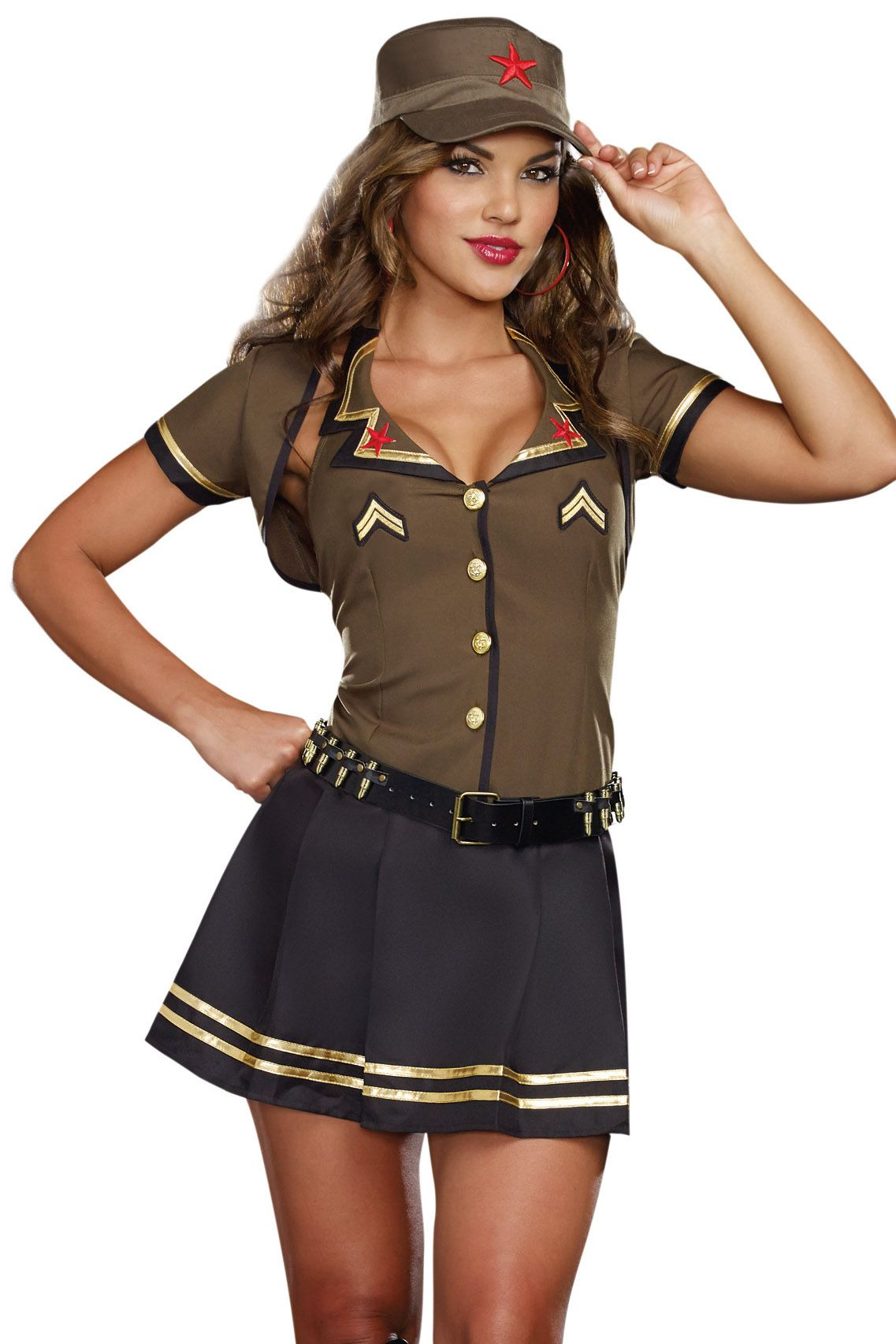 Shop for military costumes like this Army Brat Costume at Lingerie ...