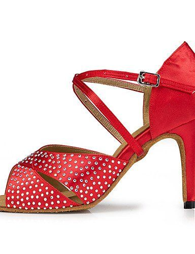 Dew Nicht Anpassbare - Stiletto - Beflockung - Latin - Damen , red-us11 / eu43 / uk9 / cn44 , red-us11 / eu43 / uk9 / cn44 - http://on-line-kaufen.de/dew-latein-tanzschuhe/red-dew-nicht-anpassbare-stiletto-beflockung-10