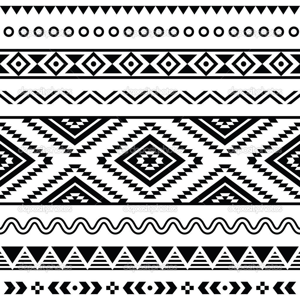 black and white Navajo seamless pattern. aztec abstract geometric print. ethnic hipster backdrop. It can be used for wallpaper, web page background, fabric, paper, postcards. hand drawn. Tribal seamless colorful geometric pattern.