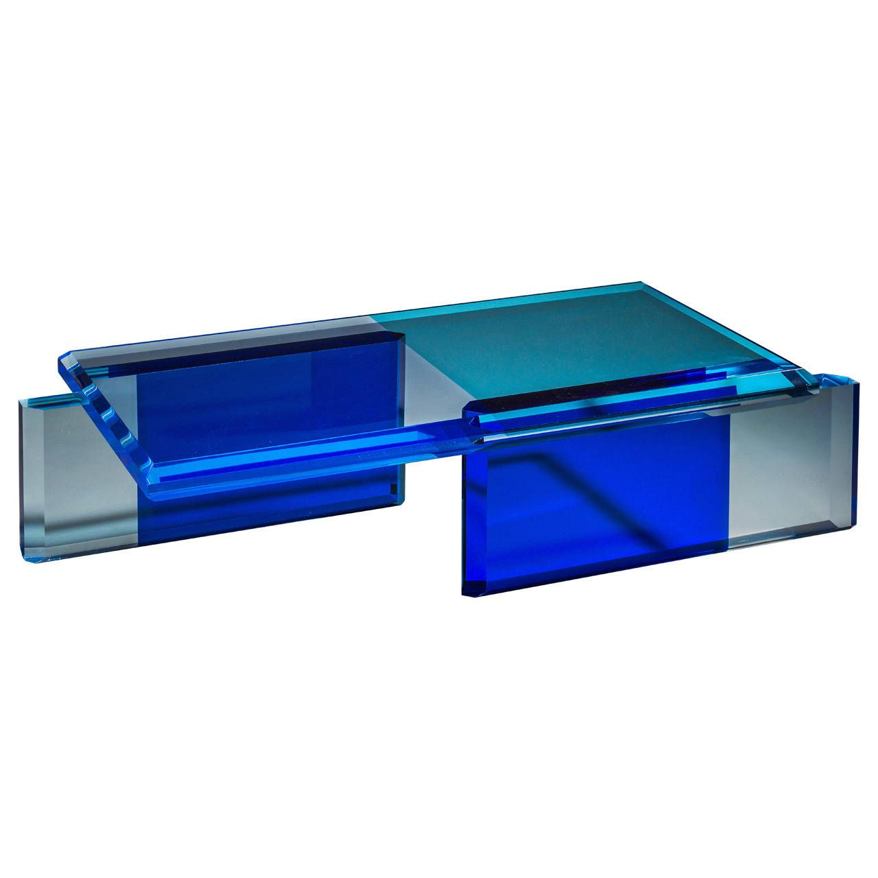 Beautiful Unique Blue Coffee Table By Charly Bounan Blue Coffee  # Muebles Velatti