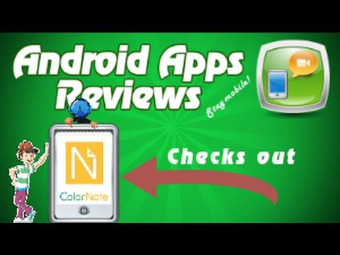 Android App Review ColorNote Notepad Notes YouTube