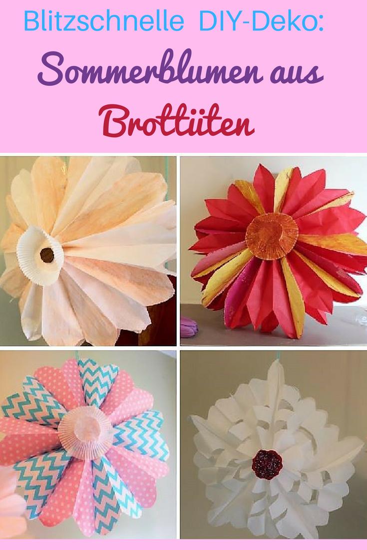 Photo of Blitzschnelle DIY-Deko: Herrliche Blumen aus Brottüten