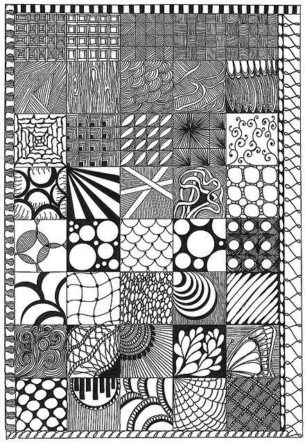 Zentangle Sampler Zentangle Patterns Texture Drawing Zentangle Art