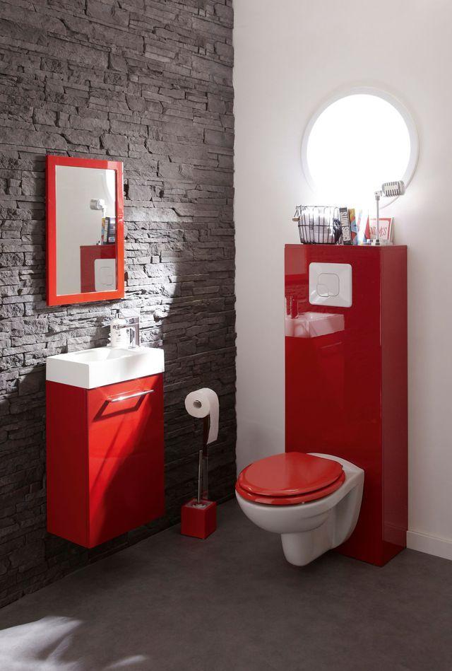 Pack WC suspendu bâti universel, SENSEA Remix Cuvette en céramique - meuble pour wc suspendu leroy merlin