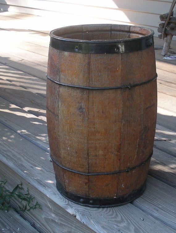 Vintage Primitive Nail Keg - Wooden Barrel | Barrels, Primitives and ...