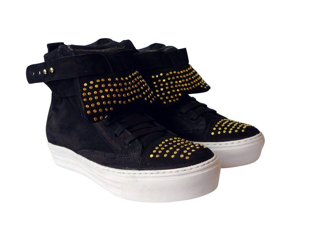 GRAVITY TENIS3632 - NOBUCK PRETO TACHAS — Hardcorefootwear / PG