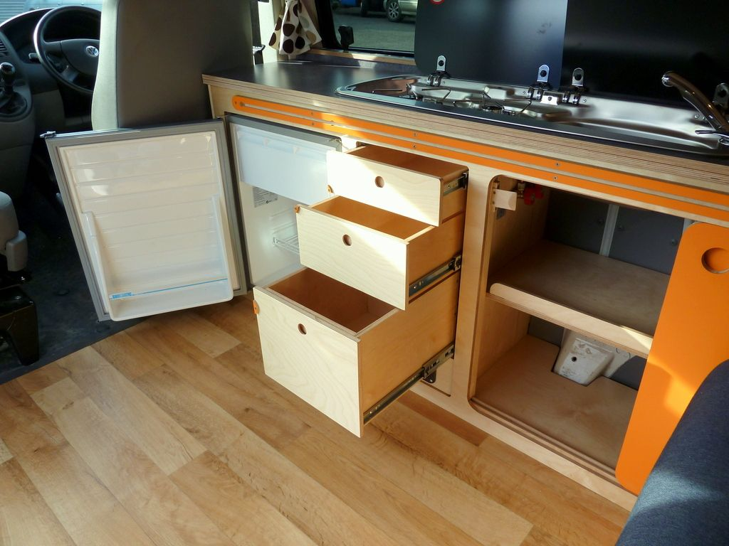 VW T5 Campervan Conversion Cambee Kitchen Unit www.cambee.co.uk ...