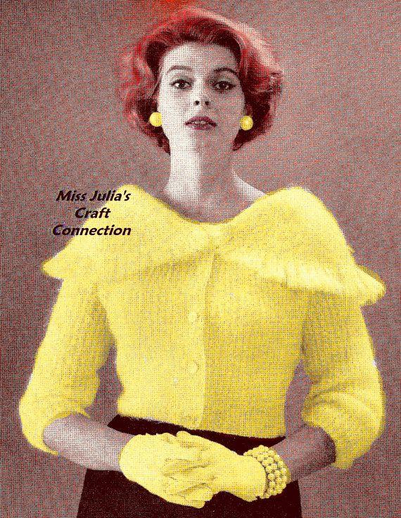 Almost FREE Vintage 1959 Elegant Portrait Collar Mohair