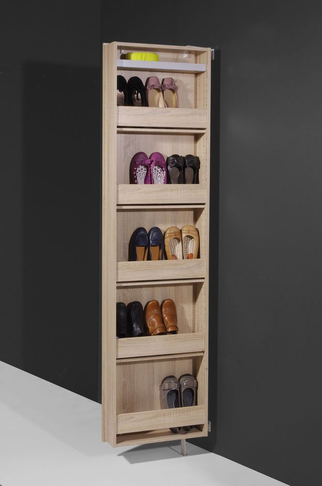 Rotating Shoes Cabinet Mirror Shoe Storage Unit Tall Touch Wood Storage  Bedroom