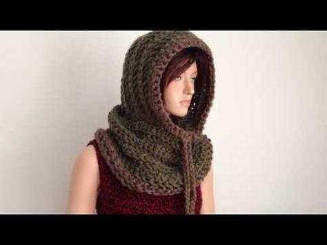 Crochet Hooded Neckwarmer/ Cowl - YouTube   Crochet & Knitting ...