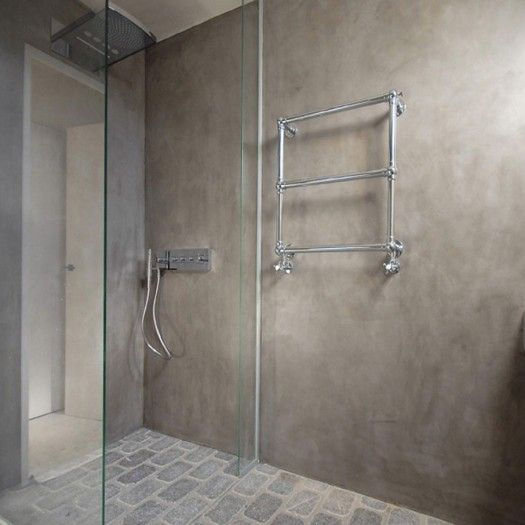 Tadelakt stone badkamer tierrafino amsterdam particuliere opdracht badkamers pinterest - Deco grijze muur ...