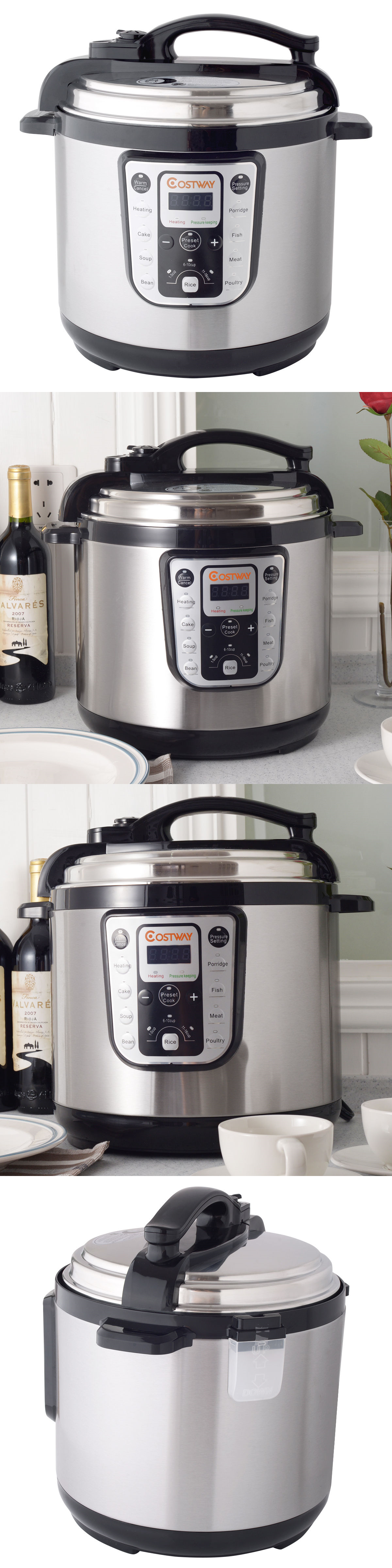 Cookers and steamers w quart electric pressure cooker