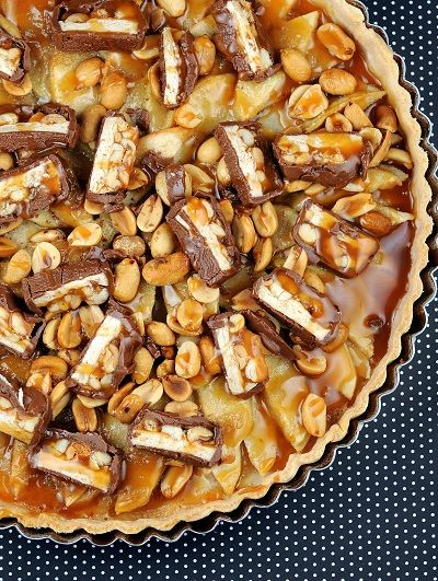 Snickers Apple Tart from Culinary Concoctions by Peabody