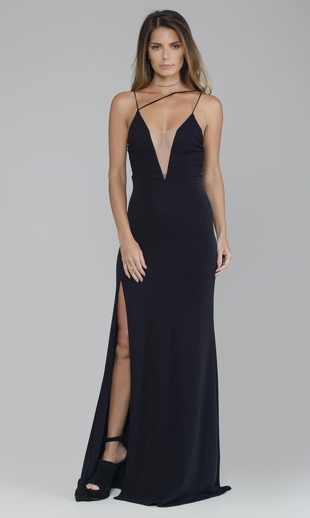 92585c499f Vestido Longo Fenda Alça Assimétrica - Agatha e-Store - Ágatha e-Store