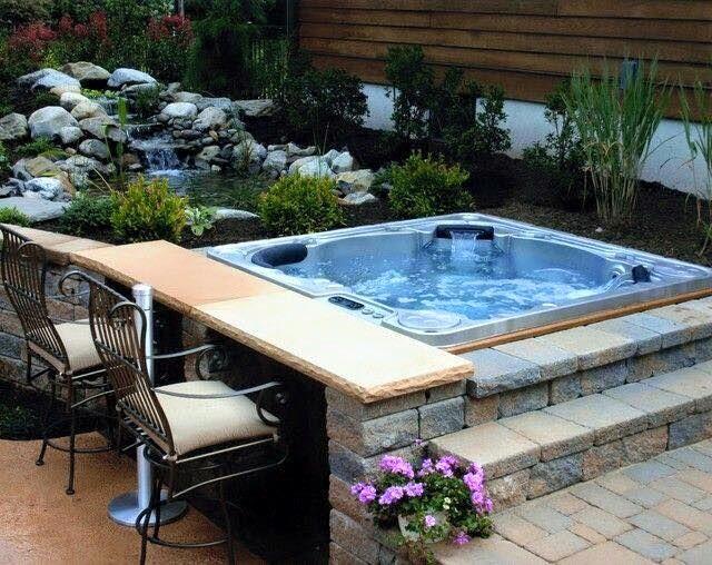 hot tub for garden | Hot Tubs Ideas | Pinterest | Piscinas