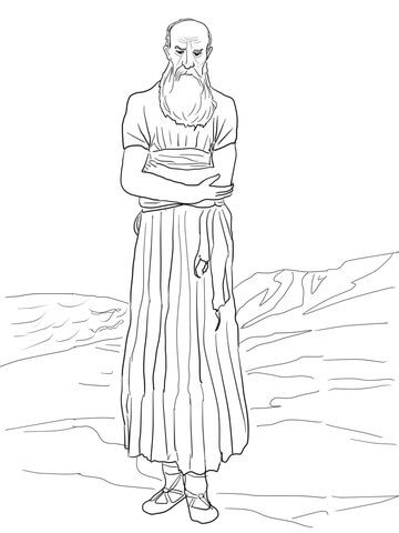 Prophet Nahum Coloring page Christian