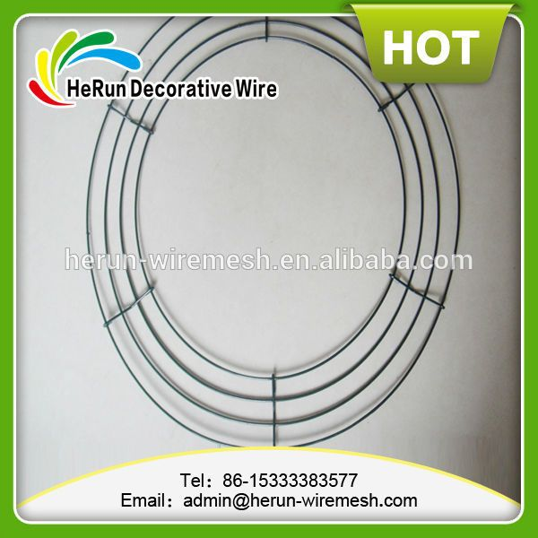 hr 12 30 metal wire wreath frames rings view - Wire Wreath Frame Wholesale