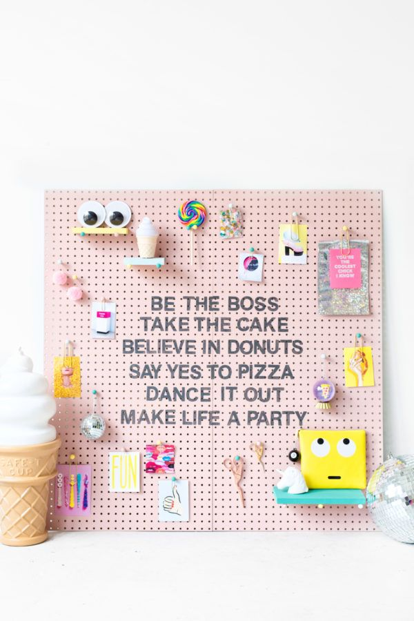 DIY Inspiration Pegboard (+ A Reader Contest with BEHR!) - Studio DIY -   diy Tumblr gifts