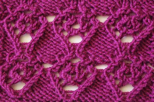 Purple Heart Knit Stitch Pattern Knit Picky Patterns Pinterest