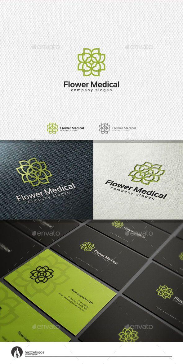 Flower Medical Logo Medical Logo Logos And Symbol Logo