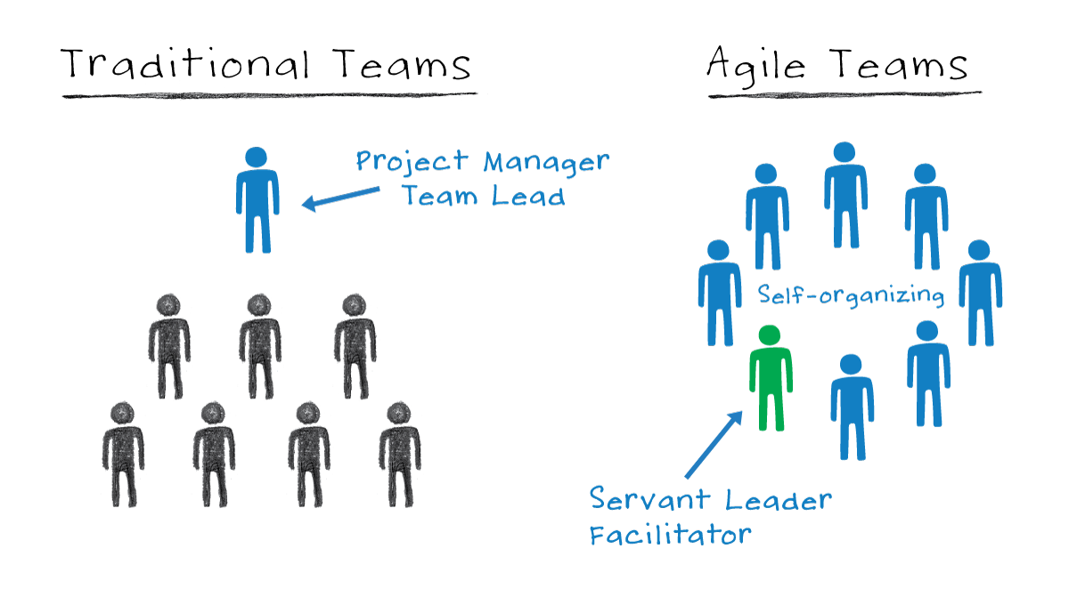 Reseach shows that Self Organizing teams are more efficient than ...