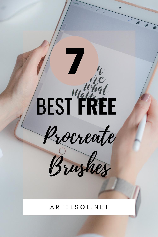 7 Best Free Procreate Brushes