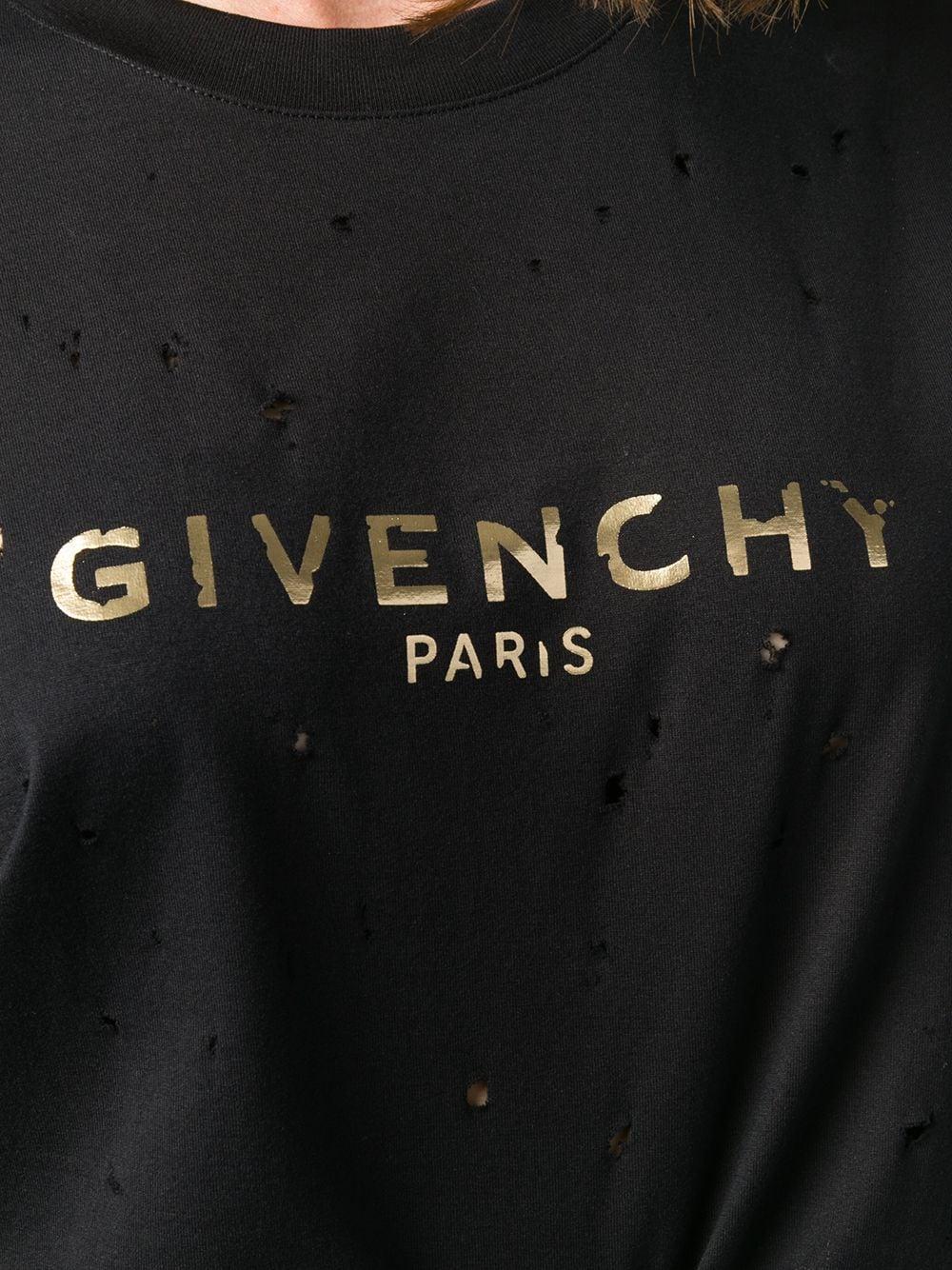 Givenchy Vintage Logo Print T Shirt Farfetch Vintage Logo Print T Shirt Givenchy