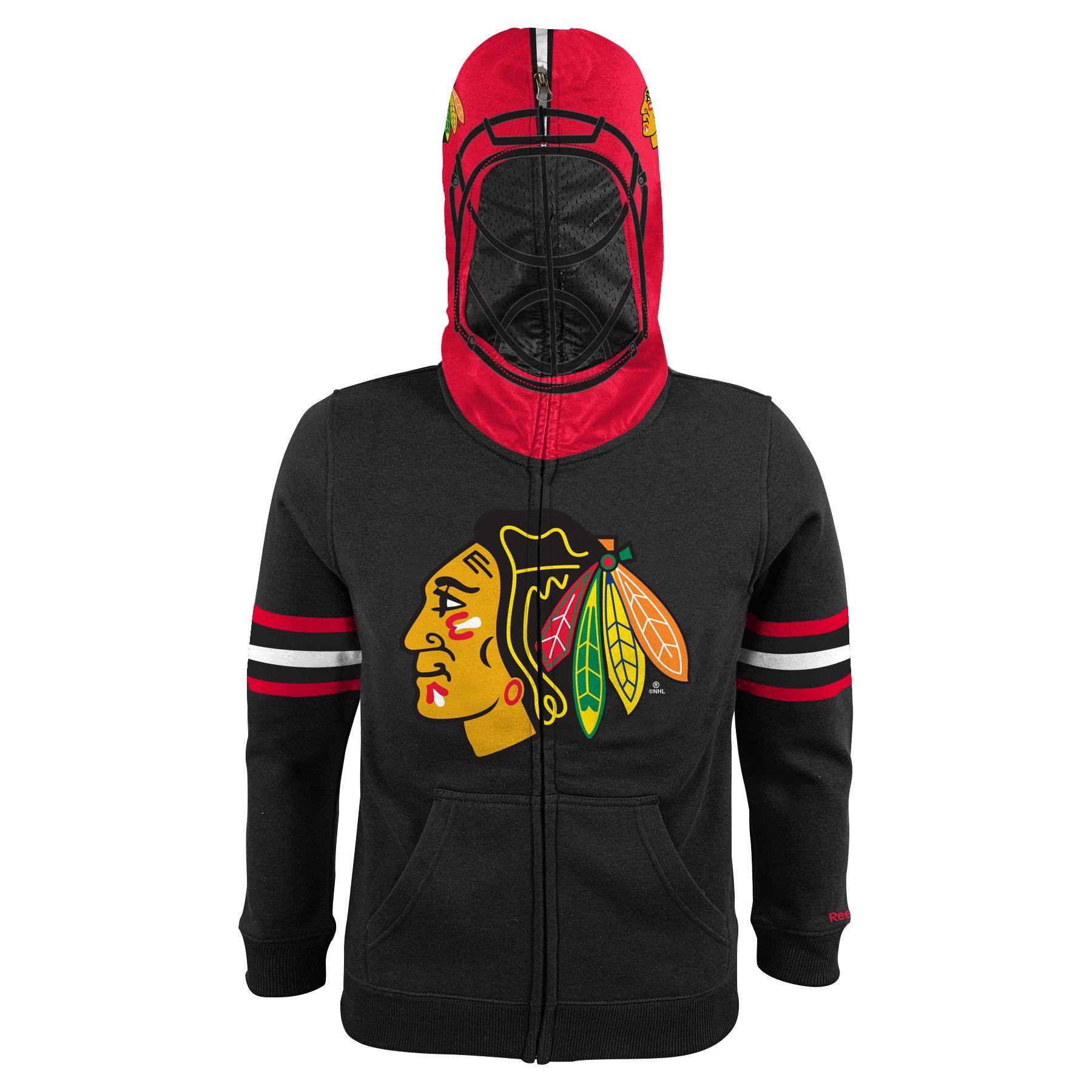 Chicago Blackhawks Youth Nhl Goalie Mask Full Zip Hoodie  6cda71b1d