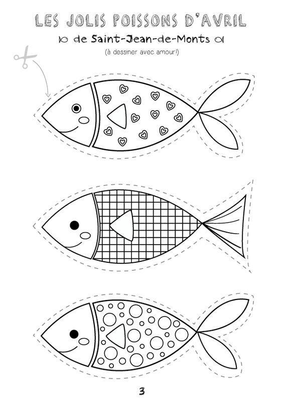 Coloriage Avril Printemps.Poisson D Avril Ecole Fish Crafts Summer Crafts Et Fish Art