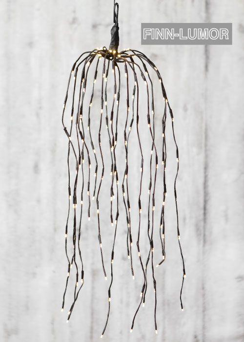 Finnlumor riippupaju ruskea 70cm, sisä- ja ulkokäyttöön (278530) / Finnlumor Decoration Light