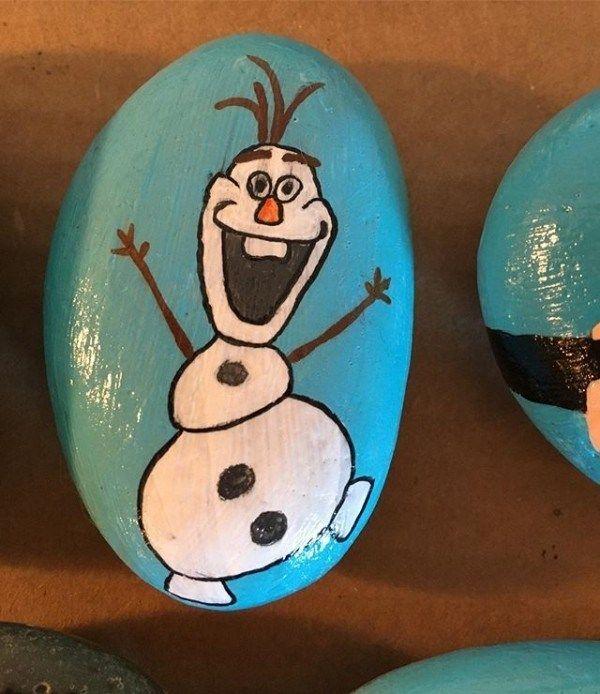 Weihnachtsmalerei auf Steinen und Kieseln: 125 Ideen für Kreativität mit Kindern - Beste Dekoideen #rockpainting