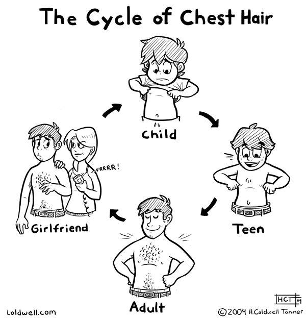 Chest Hair Is The Best Hair Life Comics Chest Hair Growth Hair Jokes