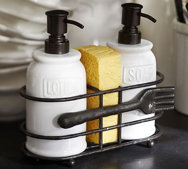 Elegant Chic Way Of Having Your Washing Up Liquid, Sponge Lotion On Show On Your  Kitchen Sink     Cucina Soap/Lotion Caddy